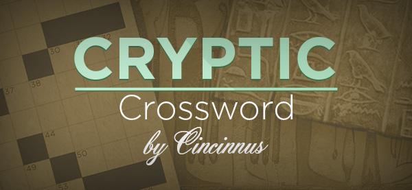 Best Cryptic Crossword by Cincinnus