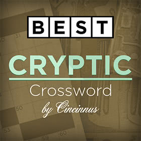Best Cryptic Crossword by Cincinnus